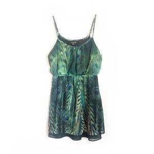 Forever 21 Peacock Print Dress